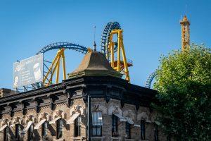 Stuntfall • Vekoma Giant Inverted Boomerang • Parque Warner